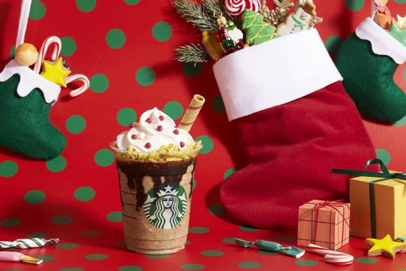 【スタバ新作】「サンタブーツ チョコレート フラペチーノ」はクッキーがストローに!! 幼い頃憧れたサンタブーツがフラペになりました
