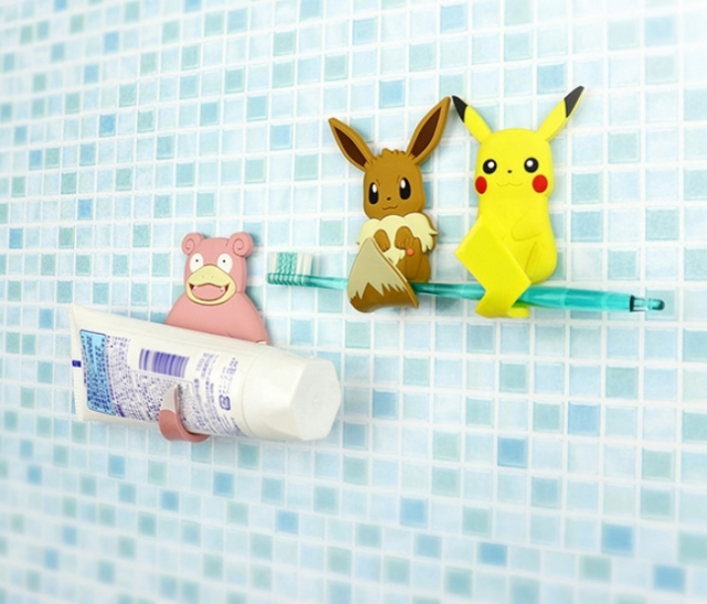 ポケモンたちのしっぽがキュートな「フック」に! 水濡れOKだからキッチンも風呂場もおまかせあれ〜