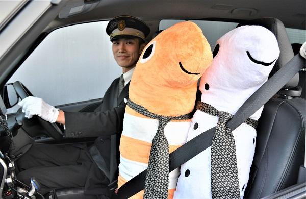 チンアナゴのぬいぐるみを乗せた「チンアナタクシー」が京都に出没! 限定3台の超レアタクシーだよ