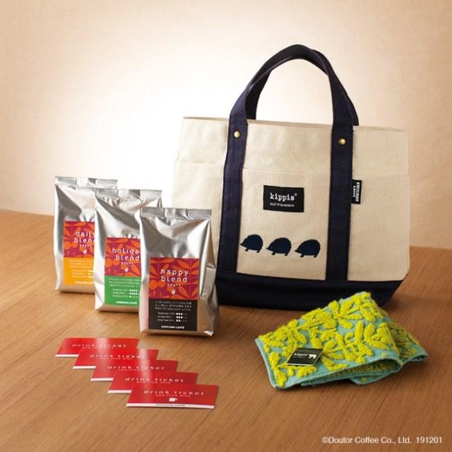 エクセルシオールのハッピーバッグが予約受付中! 北欧デザインのハリネズミ柄トートとコーヒーのセットだよ~