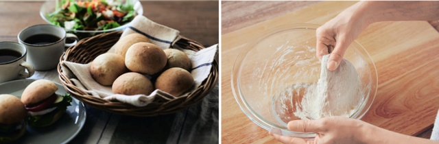焼き立てパンが35分で完成する! こねない&電子レンジ発酵の手作りパンキットが簡単&超便利です
