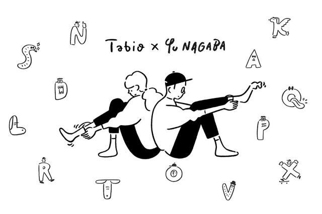 人気イラストレーター長場雄コラボのアルファベット刺繍ソックスが個性的で! 片足ずつ購入できるよ