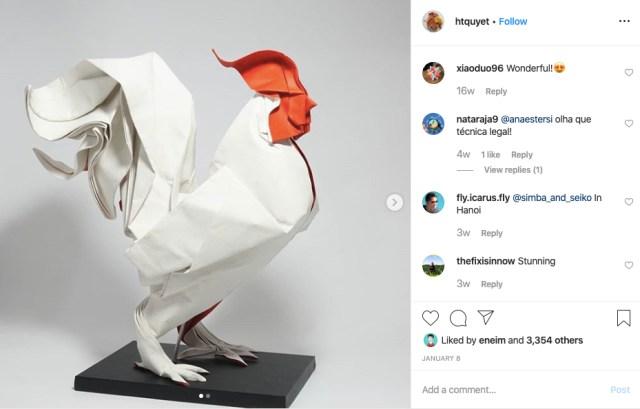 ベトナムの折り紙アーティストの作品が異次元! 折り紙というより「彫刻」の域です