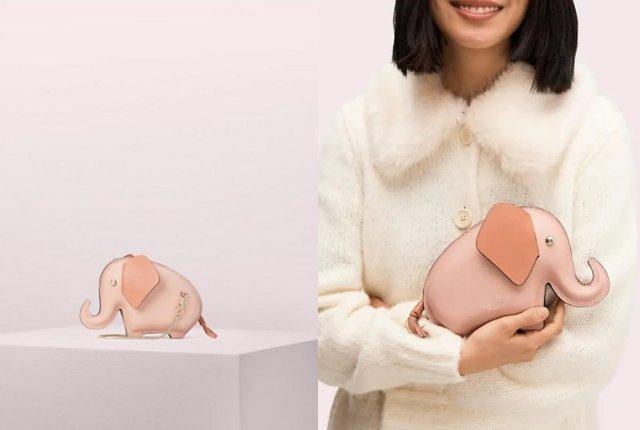 ケイト・スペードの「ゾウさんバッグ」がかわいい~! しっぽがファスナーになってるよ〜