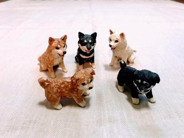 彫刻品みたいなカプセルトイ「犬の彫刻」の細やかなディテールに注目! 芸術品として飾りたくなります