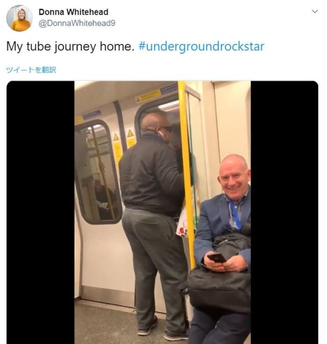 地下鉄の車内でボン・ジョヴィの名曲を熱唱する男性 → サビでの思いがけない展開に乗客大爆笑!