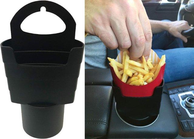 車内 & 持ち歩きに便利な「フライドポテト用ホルダー」を発見! いつでもどこでも大好きなポテトと一緒にいられます