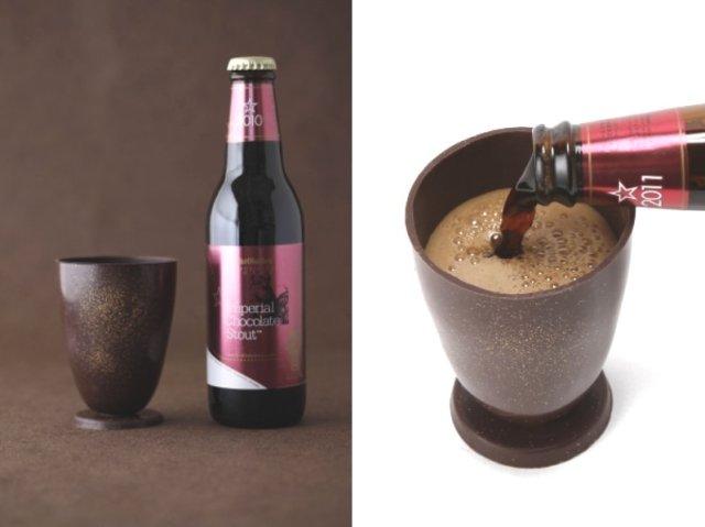 サンクトガーレンの「チョコ風味ビール & チョコ製グラス」のセットが今年も発売されるよ~! 昨年はネット販売分が6分で完売しました