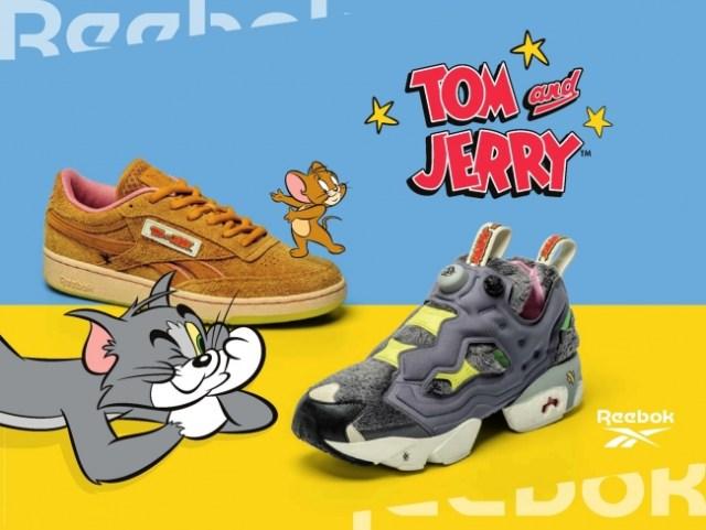 「トムとジェリー」がリーボックのスニーカーに! キャラクターやアニメの世界観を絶妙に表現しているよ