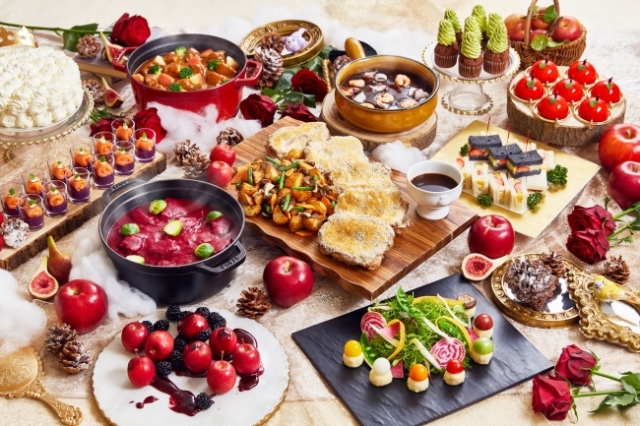 白雪姫をテーマにしたスイーツブッフェが素敵! 苺メニューが大充実 & 毒リンゴもラインナップされてます!?