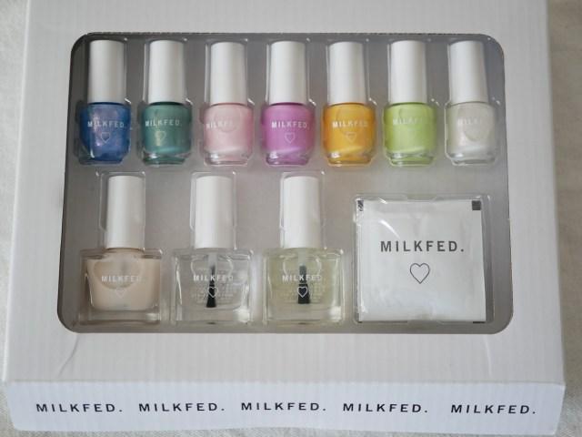 セブン限定「mini」3月増刊号の付録は「MILKFED.春ネイル♡パーフェクトSET」♪ 7色テスターしてみたよ