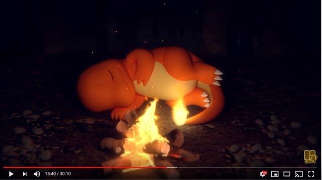 ポケモン公式が公開したASMR動画が話題! パチパチと焚き火が燃える音と眠るヒトカゲの姿はいやし効果絶大です