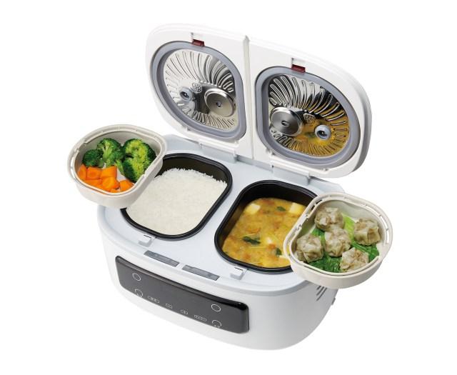 1度に最大4品作れる自動調理鍋「ツインシェフ」が話題! ほったらかし調理で家に帰ったらご飯ができてる!