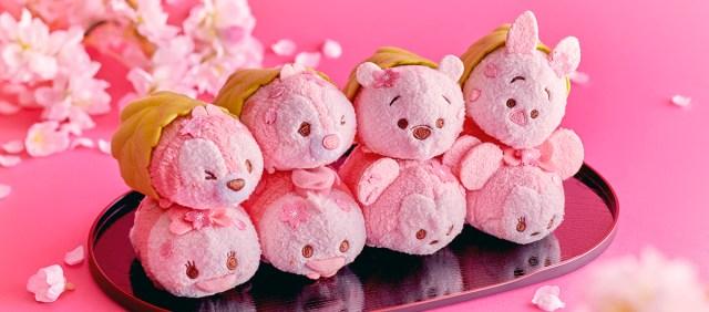 「さくらもち」みたいなディズニーツムツム人形が可愛すぎる! 淡いピンクともっちりボディーがたまらんよ