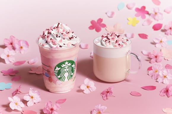 スタバ新作フラペは「さくら ミルクプリン フラペチーノ」! さくら風味のミルクプリンとイチゴ味のフラペが春にピッタリの華やかさ