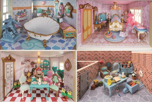 ディズニーの世界を忠実に再現した『週刊 ディズニー ドールハウス』が創刊♪ 家具や小物も凝っててとんでもなく素敵です