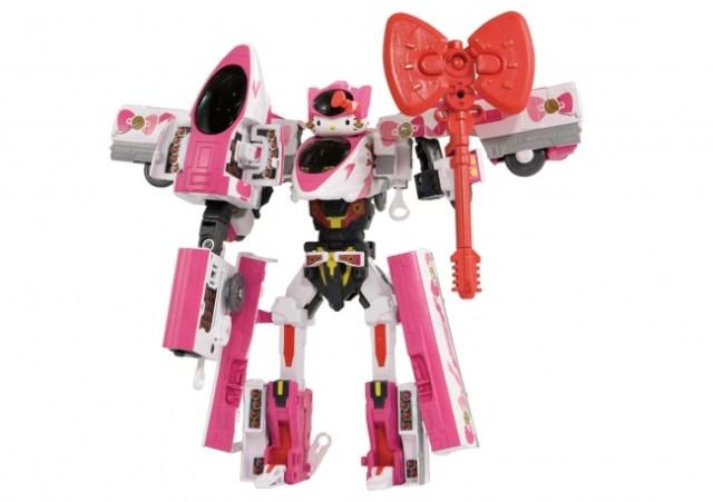 【強そう】キティさんついにロボットになる!! 「シンカリオン」とのコラボで新幹線ロボットに変身してます