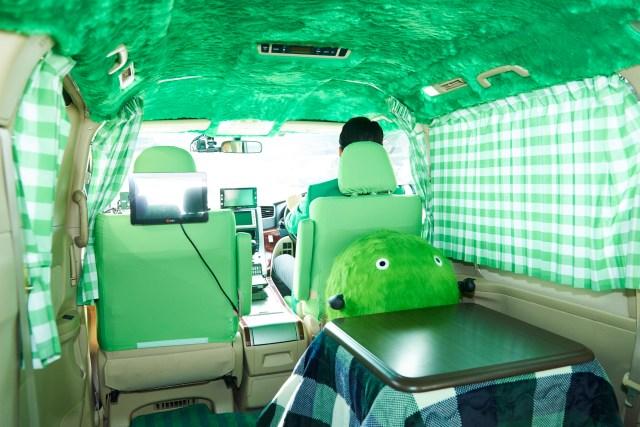 こたつ付きのタクシーに無料で乗れる!! 都内でもふもふな 「スーモタクシー」が3台限定で走行中だよ