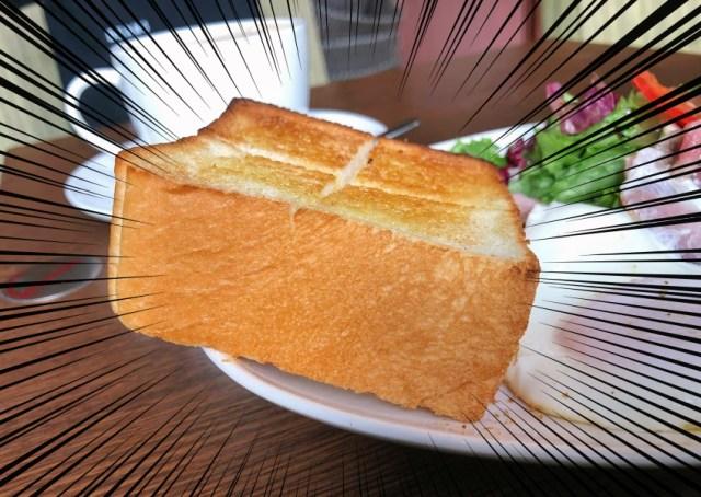 上島珈琲店のモーニングはパン好き納得の分厚さと美味しさ! 「ベーコンエッグ」を注文すればホテルの朝食のような満足度だよ