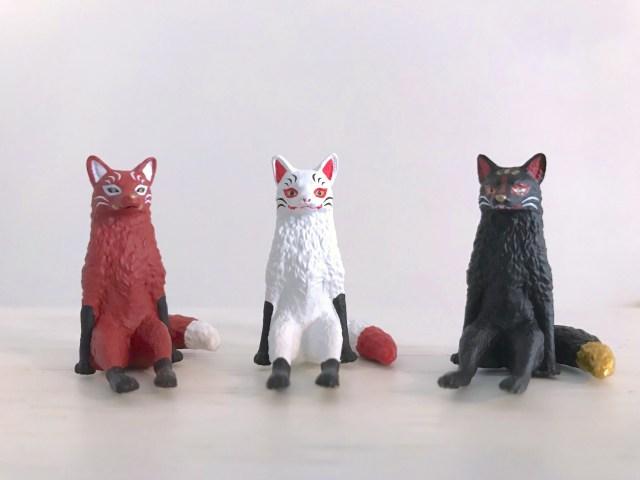 狐さまがカプセルトイに! 「座るシリーズ」新作に白狐のようなキツネが登場しました