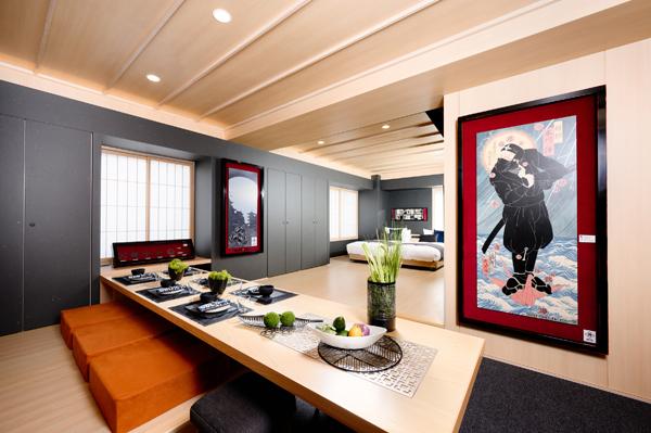 上野御徒町のホテルに「忍者ルーム」が誕生! 部屋には浮世絵や手裏剣が飾られていて忍者の世界観を満喫できます