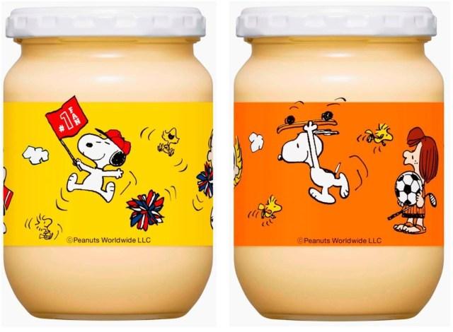 スヌーピーが「キユーピー マヨネーズ」瓶のデザインに! 春夏と秋冬でデザインが変わるよ〜!