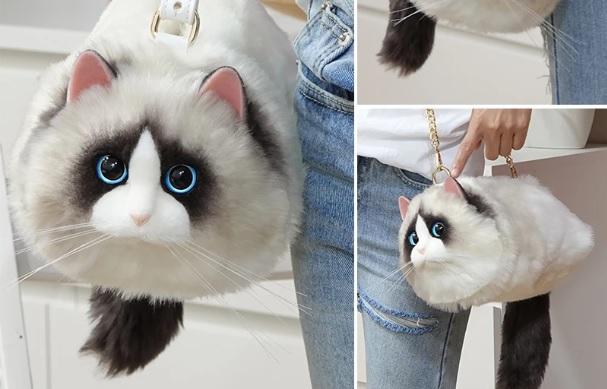 やけにリアルな猫ちゃんバッグがあった!一緒にお散歩してる気分を楽しめそうです♪