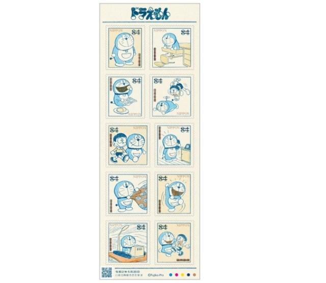 ドラえもん連載初期のカットを使った84円郵便切手が発売! 今とはフォルムが違うドラえもんに注目