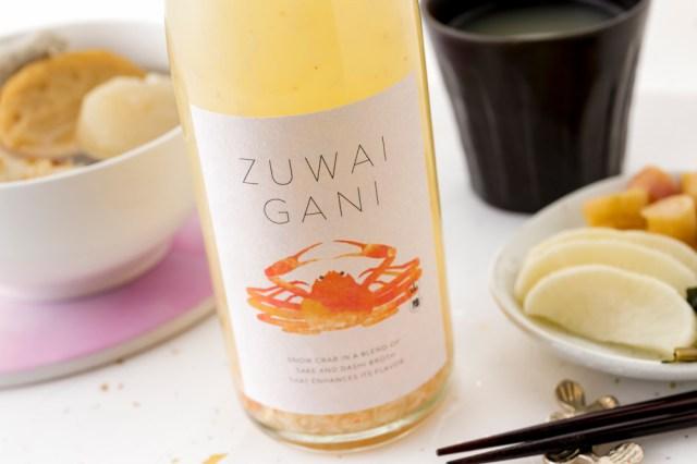 ズワイガニと出汁を組み合わせたお酒「ZUWAIGANI」がすごそう…なんとカニ雑炊も作れちゃうんだって!