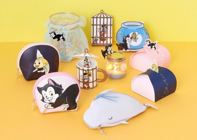 フランフランから『ピノキオ』の名シーンが再現されたグッズが登場♪ クジラに飲まれるポーチや猫のフィガロのグッズも