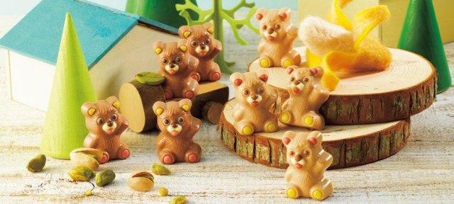 ロイズのチョコに可愛いクマチョコレートが登場したよー! キャラメルバナナとピスタチオ味の2種類です