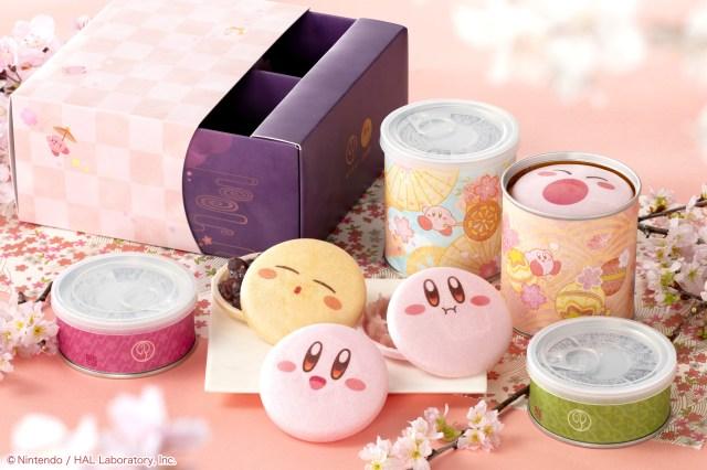 「星のカービィ」が桜モチーフの最中に! 和菓子の老舗とコラボした春限定セットがかわいい〜!!