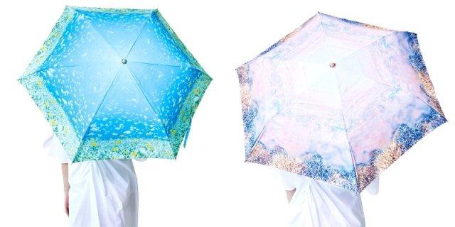 見上げると海の景色が広がる! 海中をデザインした「晴雨兼用傘」が幻想的で美しい…