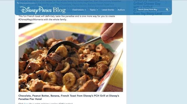 ディズニーが「直営ホテルのフレンチトースト」のレシピを公開! 季節の朝食メニューとして提供されているそうです