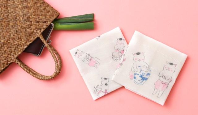 """「きょうの猫村さん」と中川政七商店がコラボした """"ふきん"""" が可愛い〜!! 家事をする猫村さんに癒やされます"""