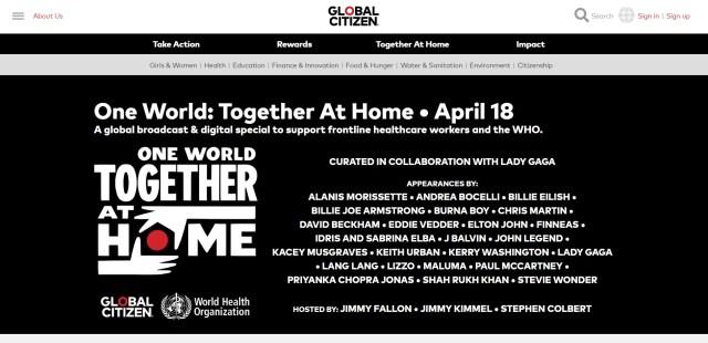 レディー・ガガが「チャリティーコンサート」を配信! ビリー・アイリッシュやポール・マッカートニーなど豪華な出演者に注目です