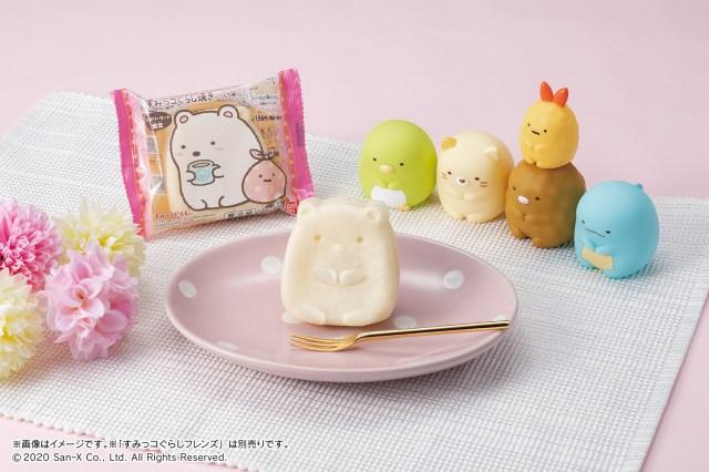 【ファミマ限定】すみっコの人気キャラ「しろくま」が全身姿のスイーツに! もちもち生地にミルク味のクリームが入った生菓子です