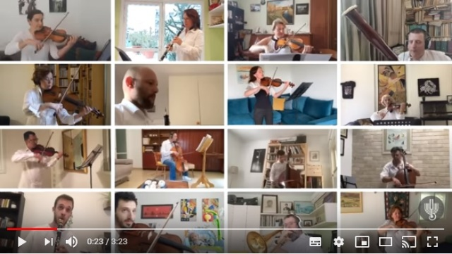 イスラエル・フィルハーモニー管弦楽団がリモート演奏動画を公開! 各自の演奏が壮大な音楽に仕上がっています