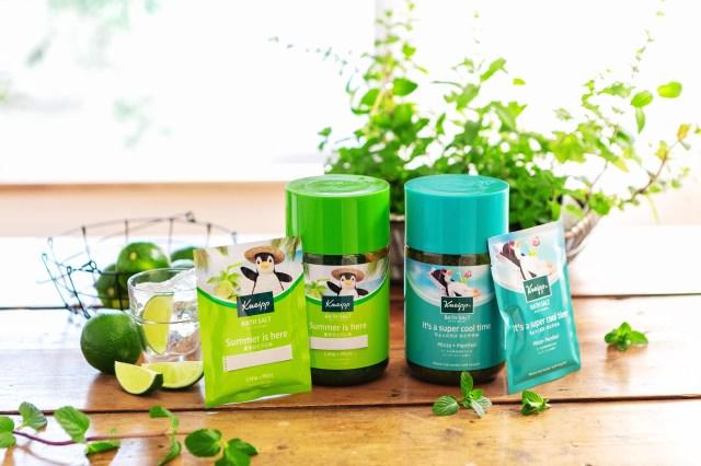 クナイプからミントの香りのバスソルト2種類が数量限定で発売! 夏のバスタイムに爽快感と癒やしをもたらしてくれるよ♪