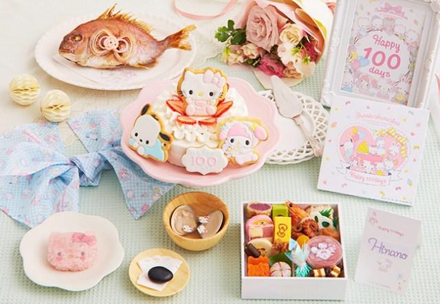 サンリオキャラクターの「お食い初めセット」が便利でかわいい♪ キティちゃんやポチャッコが赤ちゃんの成長をお祝い