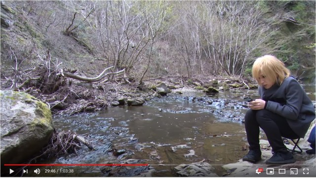 ゴールデンボンバー鬼龍院翔が「川のせせらぎ音」動画を公開したよ! ファンの安眠のために日々動画を上げています