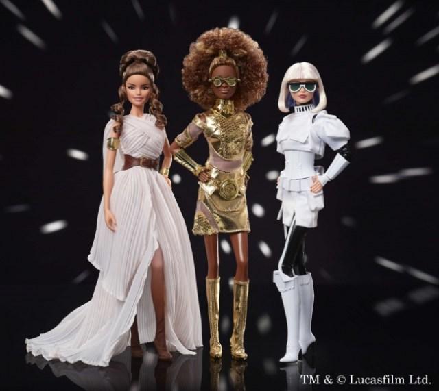 スター・ウォーズのバービー人形に第2弾が登場!  C-3POやストームトルーパー、レイがスタイリッシュに