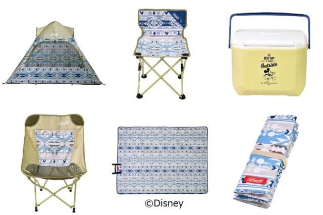 ディズニーストアからColemanのアウトドアグッズが登場! エスニックで落ち着いた色合いのテントやチェアがステキだよ