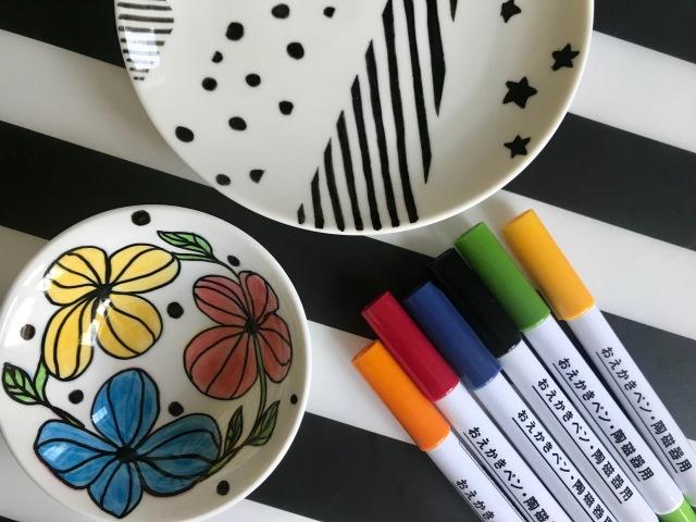 無印良品の「おえかきペン・陶磁器用」でオリジナルのお皿を作ってみた…焼き付け前なら修正可能で意外と簡単です