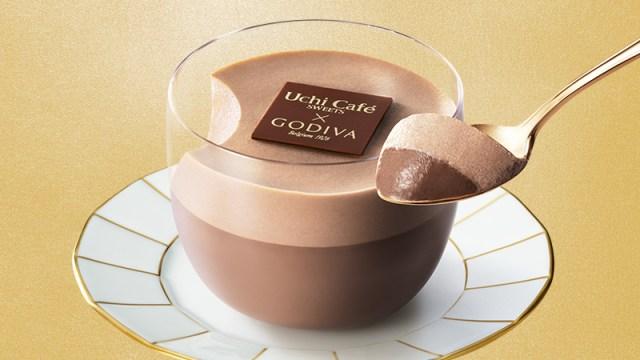 ローソン×ゴディバ夏の新作スイーツは「ダブルショコラプリン」! ショコラムースと濃厚なチョコプリンの2層仕立てだよ