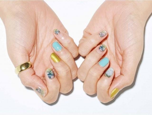 モネの名画を再現した「ネイルシール」が美しい…淡くてやさしい色合いです