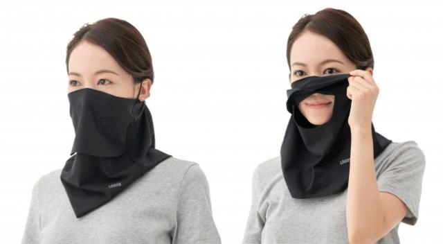 UVカットと冷感加工を備えたロゴスの「夏マスク」が便利そう / 着けたまま水分補給もできます
