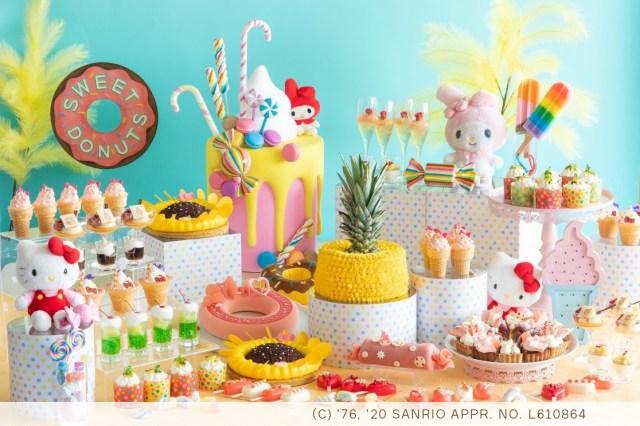 キティとマイメロのスイーツビュッフェがヒルトン大阪に登場! 25種類のデザートとともに夏のひとときを盛り上げてくれます♡