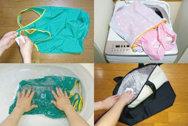花王が公開した「エコバッグのお手入れ方法・洗い方」が参考になるっ! 洗えない場合は「拭いて」対応します