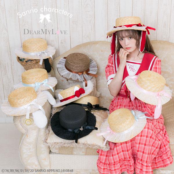 夢展望 × サンリオコラボの「カンカン帽」がハチャメチャにかわいい~♡ 耳も付いているよ